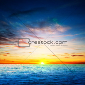 abstract spring background with sea sunrise