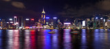 Hong Kong Island Central City Skyline at Night