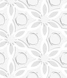 Floristic gray layering seamless