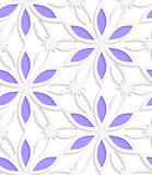Floristic white seamless