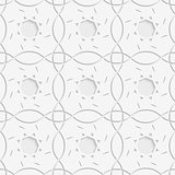 White squares and geometric flowers seamless