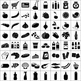 Set of supermarket symbols