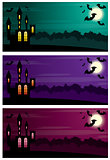 Three Halloween banners.