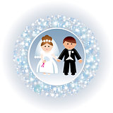 Greeting card with a wedding