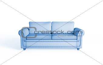 3d rendering of a modern sofa.