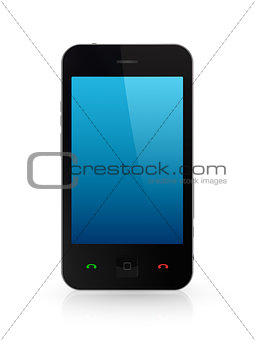 Modern mobile phone with touchscreen.