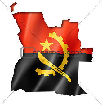 Angolan flag map