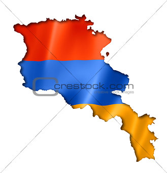 Armenian flag map