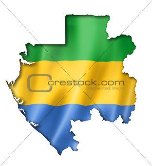 Gabonese flag map