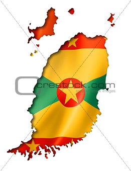 Grenada flag map