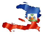 Haitian flag map