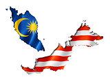 Malaysian flag map