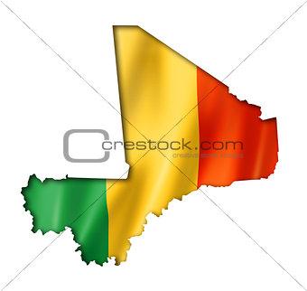Mali flag map
