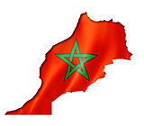 Moroccan flag map