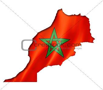 Moroccan flag map