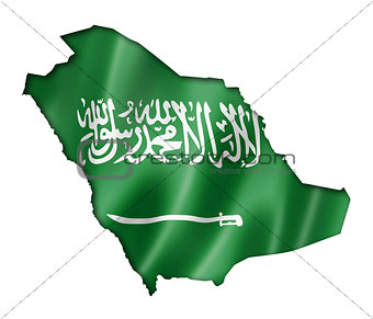 Saudi Arabia flag map