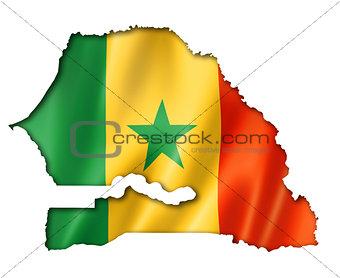 Senegalese flag map
