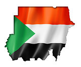 Sudan flag map