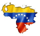 Venezuelan flag map