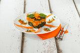 Pumpkin Chard Gnocchi Timbale