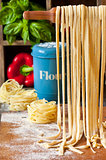 Homemade pasta.
