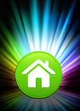 House Icon Button on Abstract Spectrum Background