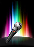 Microphone on Abstract Spectrum Background