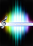 Musical Note on Abstract Spectrum Background