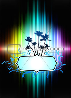 Abstract Tropical Frame on Spectrum Background