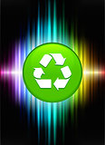 Recycle Icon Button on Abstract Spectrum Background