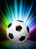 Soccer Ball on Abstract Spectrum Background