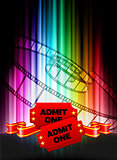 Admission Tickets on Abstract Spectrum Background