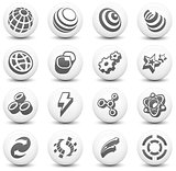 Internet Icon on Round Black and White Button Collection