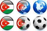 Gaza Flag Button with Global Soccer Event