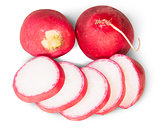 Sliced Juicy Radishes