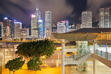 Hong Kong Skyline by Central Pier