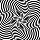 Design monochrome whirlpool illusion background