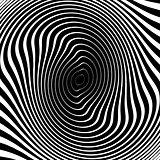 Design monochrome whirl circular background