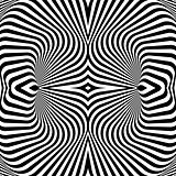 Design monochrome whirl illusion background