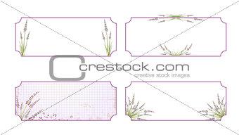 Lavender Flower Label Set