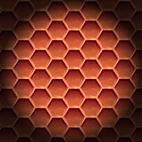 Create orange color honeycomb background texture