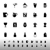 Variety drink icons on white background