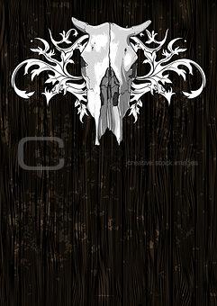 skull cow decorative
