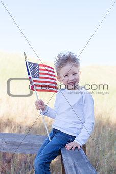 boy celebrating 4th of July