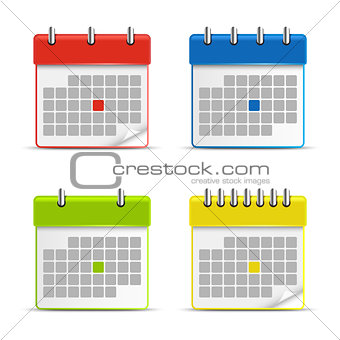 Calendar web colored icons