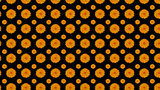 Orange flowers on black