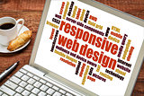 responsive web design word cloud