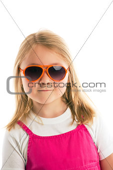 posing girl with sunglasses