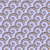 Design seamless colorful spiral geometric pattern