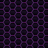 Create dark violet honeycomb background texture
